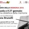 Verso la Giornata della memoria: 11 gennaio, un incontro con Luciana Brunelli
